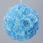 LT BLUE Silk pomander flower ball